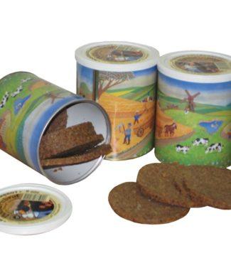 Trvanlivý plátkový chléb v dózách - celozrnný